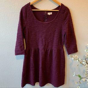 Maison Jules Maroon Metallic Sweater Dress XL